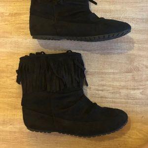 Chinese Laundry Fringe Suede Ankle Boot Boho